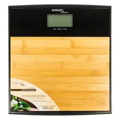 Напольные весы SCARLETT SC-BS33E064, до 180кг, цвет: бамбук/черный [sc - bs33e064]