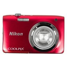 Цифровой фотоаппарат NIKON CoolPix A100, красный