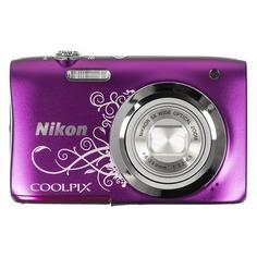 Цифровой фотоаппарат NIKON CoolPix A100, фиолетовый/ рисунок