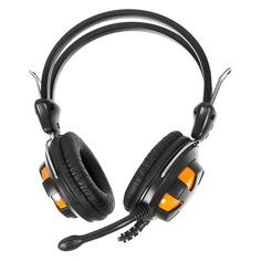 Наушники с микрофоном A4 HS-28, мониторы, оранжевый / черный [hs-28 (orange black)]
