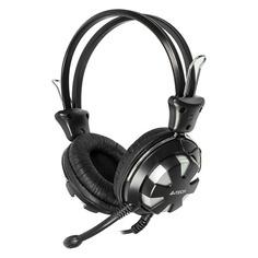 Наушники с микрофоном A4 HS-28, мониторы, серебристый / черный [hs-28 (silver black)]