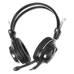 Наушники с микрофоном A4 HS-28, мониторы, черный [hs-28 (black)]