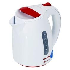 Чайник электрический PHILIPS HD4646/40, 2400Вт, белый и красный