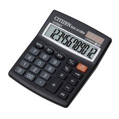 Калькулятор CITIZEN SDC-812BN, 12-разрядный, черный