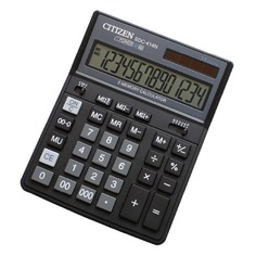 Калькулятор CITIZEN SDC-414 N, 14-разрядный, черный