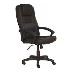 Кресло руководителя БЮРОКРАТ T-9906AXSN, на колесиках, кожа, черный