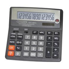 Калькулятор CITIZEN SDC-660II, 16-разрядный, черный