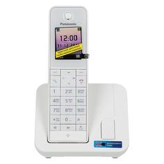 Радиотелефон PANASONIC KX-TGH210RUW, белый