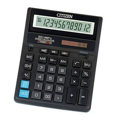 Калькулятор CITIZEN SDC 888TII, 12-разрядный, черный