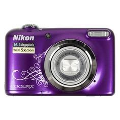 Цифровой фотоаппарат NIKON CoolPix A10, фиолетовый/ рисунок