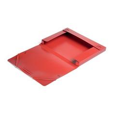 Папка-короб на резинке Бюрократ -BA25/05RED пластик 0.5мм корешок 25мм A4 красный
