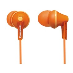 Наушники PANASONIC RP-HJE125E-D, вкладыши, оранжевый, проводные