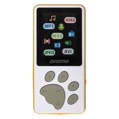 MP3 плеер DIGMA S3 flash 4Гб белый/оранжевый [s3wo]
