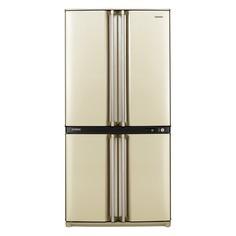 Холодильник SHARP SJ-F95STBE, двухкамерный, бежевый