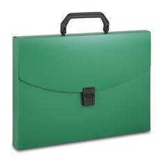 Портфель Бюрократ -BPP01GRN 1 отдел. A4 пластик 0.7мм зеленый