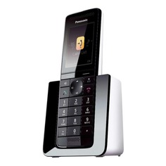 Радиотелефон PANASONIC KX-PRS110RU, черный и белый [kx-prs110ruw]
