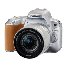 Зеркальный фотоаппарат CANON EOS 200D kit ( EF-S 18-55mm f/3.5-5.6 IS STM), серебристый