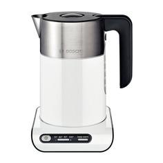 Чайник электрический BOSCH TWK8611P, 2400Вт, белый и серебристый