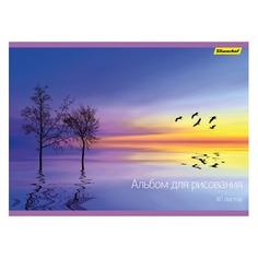 Альбом для рисования Silwerhof 911152-74 40л. A4 Закат 2диз. мел.картон офс.лак склейка
