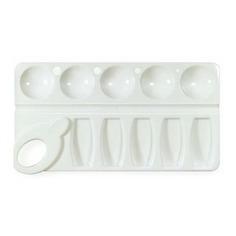 Палитра для смешивания красок Silwerhof 670211 Пластилиновая кол-ция прямоугольная пластик цв.белый