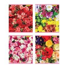 Тетрадь Silwerhof 811511-55 40л. клет. A5 Нежность цветов 4диз. картон вод.лак скрепка