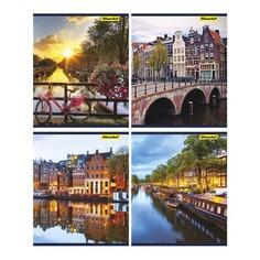 Тетрадь Silwerhof 811495-55 40л. клет. A5 Амстердам 4диз. картон вод.лак скрепка