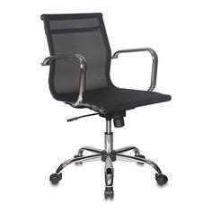 Кресло руководителя БЮРОКРАТ CH-993-Low, на колесиках, сетка, черный [ch-993-low/m01]