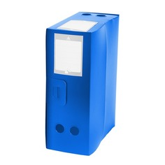 Короб архивный вырубная застежка Бюрократ -BA120BLUE пластик 1мм корешок 120мм 330х245мм синий