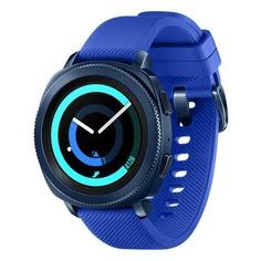 "Смарт-часы SAMSUNG Galaxy Gear Sport, 1.2"", синий / синий [sm-r600nzbaser]"