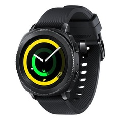 "Смарт-часы SAMSUNG Galaxy Gear Sport, 1.2"", черный / черный [sm-r600nzkaser]"