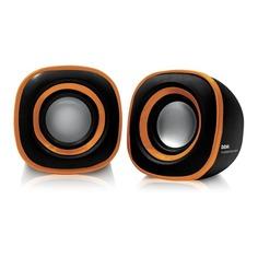 Колонки BBK CA-301S, 2.0, черный, оранжевый