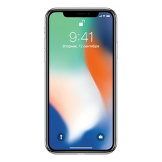 Смартфон APPLE iPhone X 64Gb, MQAD2RU/A, серебристый