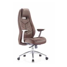 Кресло руководителя БЮРОКРАТ _Zen, на колесиках, кожа, коричневый [_zen/brown]