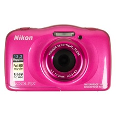 Цифровой фотоаппарат NIKON CoolPix W100, розовый