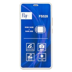 Смартфон FLY Memory Plus FS528, золотистый