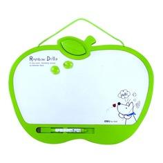 Демонстрационная доска Deli E7807 магнитно-маркерная лак 22x28см белый 2 магнита/маркер/стиратель