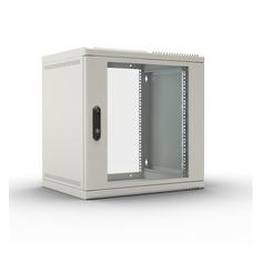 Шкаф коммутационный ЦМО (ШРН-6.650) 6U 600x650мм пер.дв.стекл несъемн.бок.пан. 50кг серый