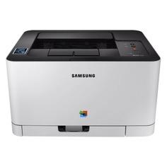 Принтер лазерный SAMSUNG SL-C430W лазерный, цвет: белый [ss230m]