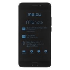 Смартфон MEIZU M6 Note 32Gb, M721H, черный