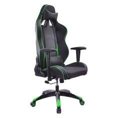Кресло игровое БЮРОКРАТ CH-776, на колесиках, искусственная кожа [ch-776/bl+gr]