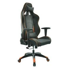 Кресло игровое БЮРОКРАТ CH-776, на колесиках, искусственная кожа [ch-776/bl+or]