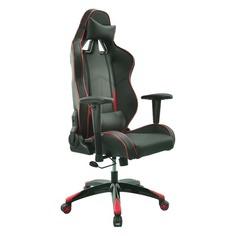 Кресло игровое БЮРОКРАТ CH-776, на колесиках, искусственная кожа [ch-776/bl+r]