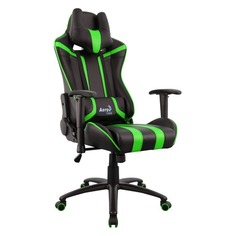 Кресло игровое AEROCOOL AC120 AIR-BG, ПВХ/полиуретан [516338]