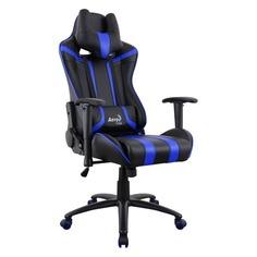 Кресло игровое AEROCOOL AC120 AIR-BB, на колесиках, ПВХ/полиуретан [516670]