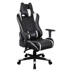 Кресло игровое AEROCOOL AC220 AIR-BW, на колесиках, ПВХ/полиуретан [516396]