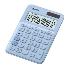 Калькулятор CASIO MS-20UC-LB-S-EC, 12-разрядный, светло-голубой