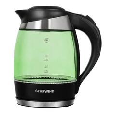 Чайник электрический STARWIND SKG2213, 2200Вт, зеленый и черный