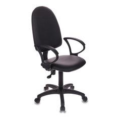 Кресло БЮРОКРАТ CH-1300, на колесиках, искусственная кожа, черный [ch-1300/or-16]