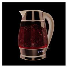 Чайник электрический VITEK VT-7037, 2200Вт, серебристый