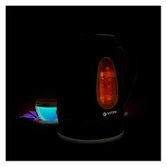 Чайник электрический VITEK VT-7039, 2200Вт, серебристый и черный